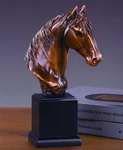 Horse Bust Figurine Statue