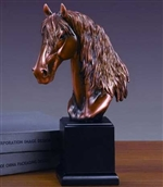 "12"" Horse Head Statue - Bronzed Sculpture"