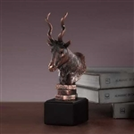 "10"" Bronze Finished Antelope Statue - Figurine"
