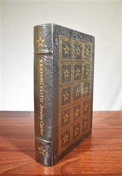 Keeping Faith Signed by Jimmy Carter - Easton Press - Leather Bound