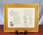 Buttonwood Agreement Reproduction Display