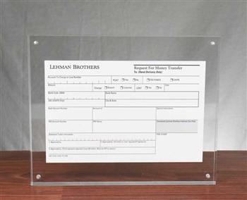 Lehman Brothers Request for Money Transfer Display