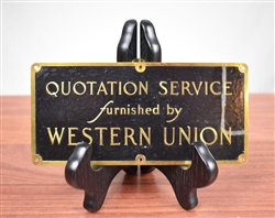 Rare Western Union Stock Ticker Service Sign