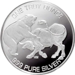 Fighting Bull & Bear Silver Coin - .999 Silver