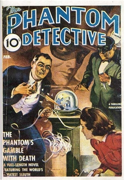 The Phantom Detective Featuring Shooting Ticker Tape Machine