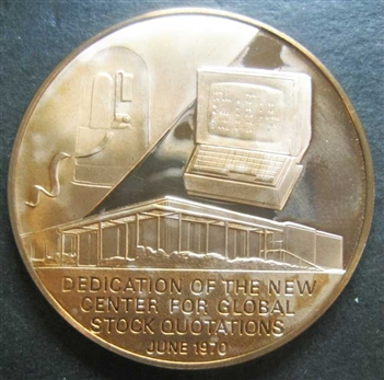 1970 Bronze Ultronic Quotation System Coin