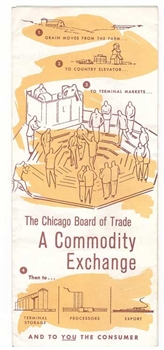 Chicago Board of Trade Visitor's Brochure - Vintage