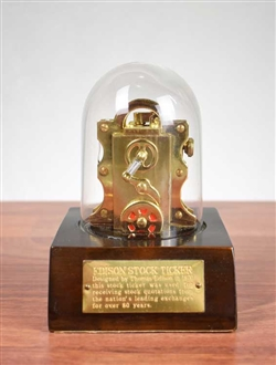 Edison Ticker Tape Replica Lighter -wooden base