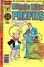 1980 Richie Rich Profits Comic Book with Ticker Machine Cover