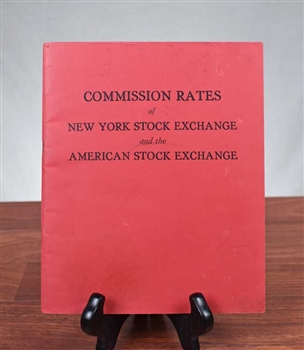 1969 Commission Rates of the NYSE & AMEX Booklet