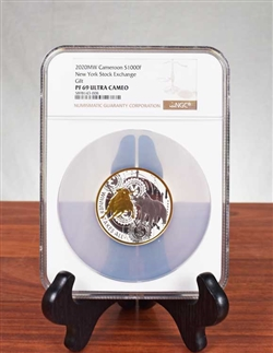 ".999 Silver ""Winner Takes All"" Bull and Bear Coin - PF 69 Ultra Cameo"
