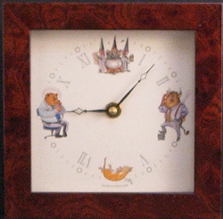 Bull and Bear Clock