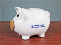 Cork-nosed Merrill Lynch Piggy Bank