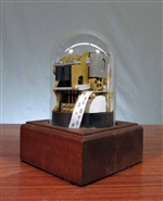 Wooden Stock Ticker Tape Machine Replica