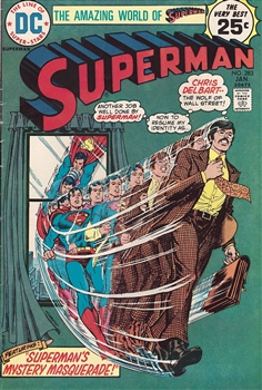1975 Superman as The Wolf of Wall Street Comic
