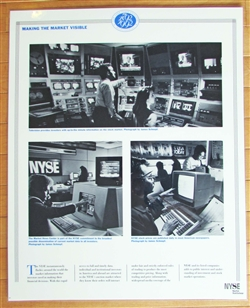 NYSE Laminated Making the Market Visible Poster