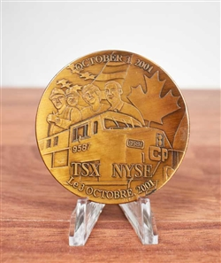 NYSE Canadian Pacific Railroad Listing Medallion - Coin