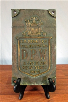 1964 Bronze New York DPW Bridge Sign