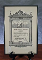E.F. Hutton Midwest Stock Exchange Member Certificate