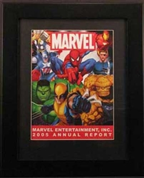 Framed 2005 Marvel Entertainment, Inc. Annual Report