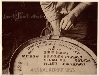 1963 James B. Beam Distilling Co. (Jim Beam) Annual Report