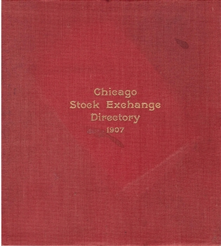 1907 Chicago Stock Exchange Directory