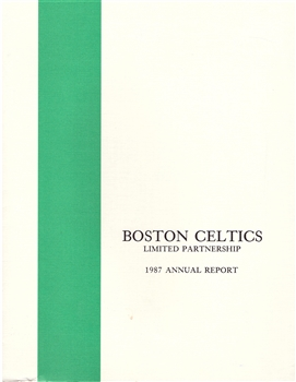 1987 Boston Celtics Annual Report