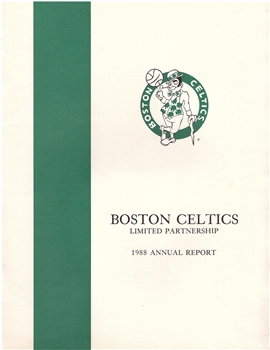 1988 Boston Celtics Annual Report
