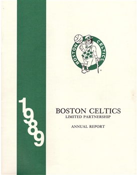 1989 Boston Celtics Annual Report