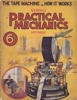 1938 Ticker Tape Practical Mechanics Magazine