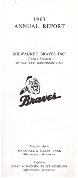 1963 Milwaukee Braves Annual Report