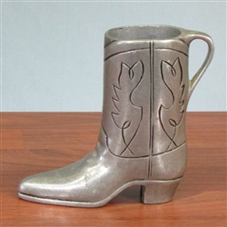 E.F. Hutton Pewter Cowboy Boot