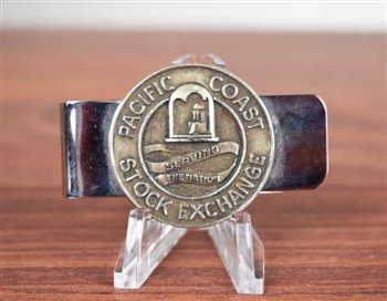 Vintage Pacific Coast Stock Exchange Money Clip
