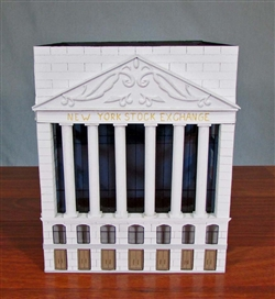 Handmade NYSE Building Sculpture