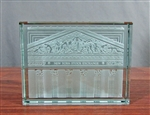 New York Stock Exchanged Etched Glass Paperweight