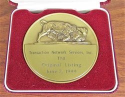 Transaction Network Services TNI NYSE Medallion - Coin