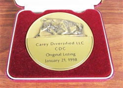 Carey Diversified NYSE Medallion - Coin