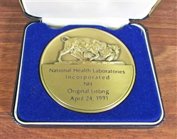 National Health Labs NYSE IPO Medallion - Coin