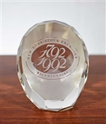 NYSE Bicentennial Crystal Paperweight