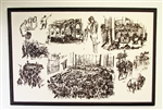 Large New York Stock Exchange Sketches by John Groth