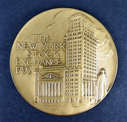 New York Stock Exchange Bull & Bear Medallion -Bronze