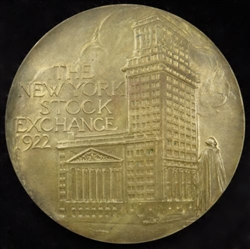 1922 NYSE 130 Year Commemorative Medal - Buttonwood Agreement