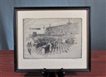 Vintage Chicago Midwest Stock Exchange Etching
