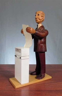 Rare Computer Printer Statue by Romer of Italy
