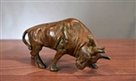 Metal Bull Figurine with Antique Finish