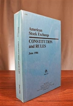 American  Stock Exchange Constitution & Rules 1986