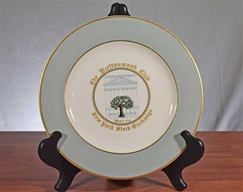 The Buttonwood Club | NYSE Commemorative Plate