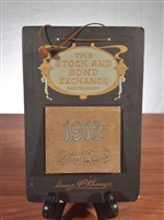 1912 San Francisco Stock & Bond Exchange Calendar