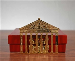 1988 NYSE Gold Plated Brass Christmas Ornament
