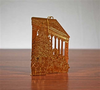 1991 NYSE Gold Plated Brass Christmas Ornament